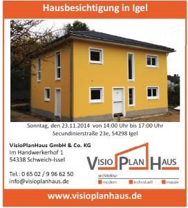 Hausbesichtigung Igel, 23-11-2014