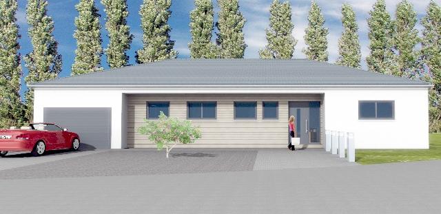 Biersdorf am See – Bungalow mit Garage – massiv, Baubeginn 2016