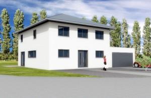 Niederstedem - Stadtvilla mit Doppelgarage - Massiv Baubeginn 2016
