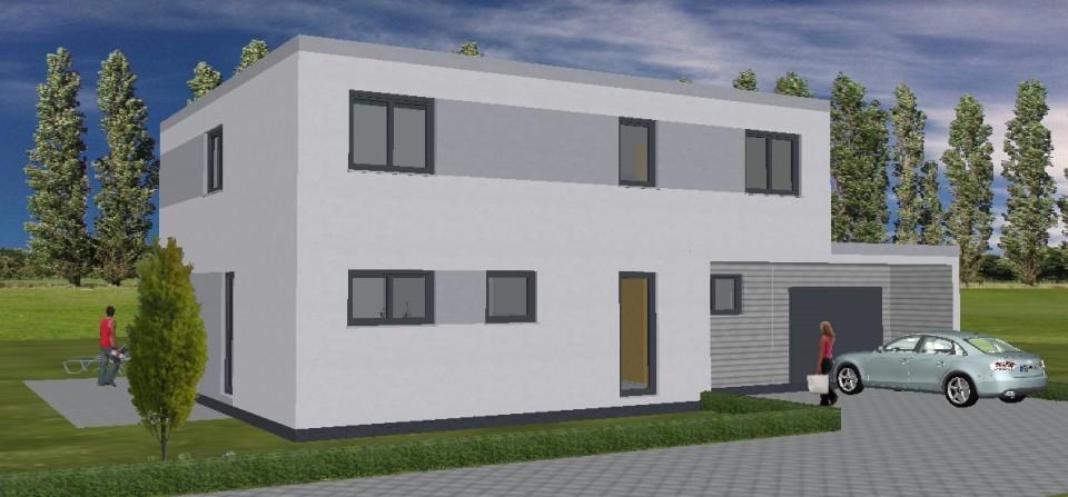 Konz-Könen, Bauhaus mit Doppelgarage, Massivbauweise- 2015/2016