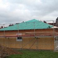 Hausaufbau eines Bungalows in Meckel.
